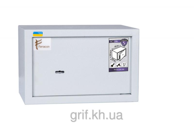 Сейф Мебельный механический Ferocon БС 20 К 7035