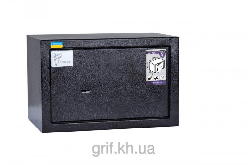Сейф Мебельный механический Ferocon ЕС 20 К 9005