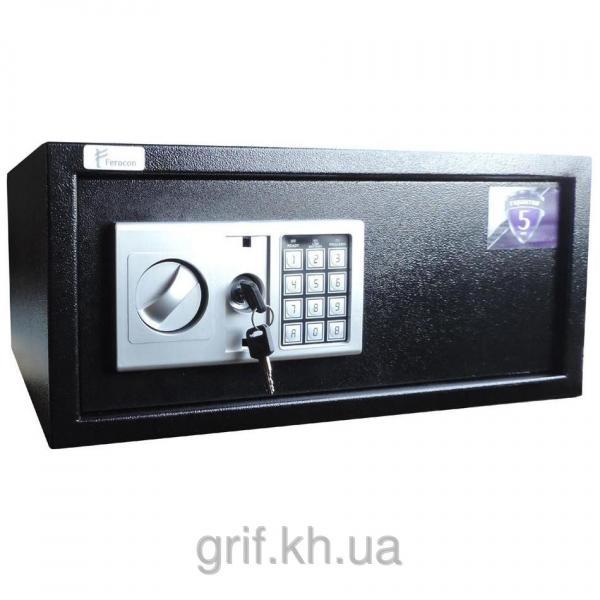 Мебельный сейф электронно-механический Ferocon БС-24Е. 9005