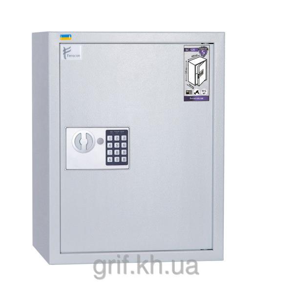 Сейф офисный электронно-механический Ferocon БС 52 Е.П1 7035