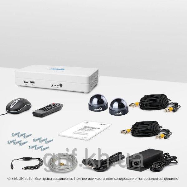 Комплект видеонаблюдения «установи сам» Страж Смарт-4 2К (КУ-700К-2)