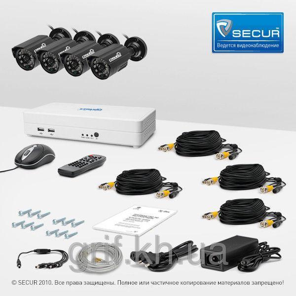 Комплект видеонаблюдения «установи сам» Страж Смарт-4 4У+ (УЛ-700Ш-4)