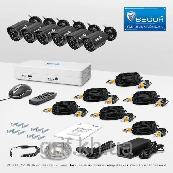 Комплект видеонаблюдения «установи сам» Страж Смарт-8 6У (УЛ-700К-6)
