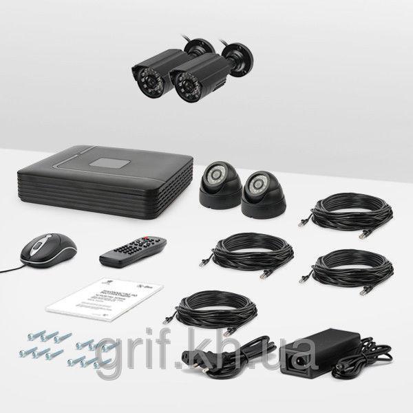 Комплект IP видеонаблюдения Страж IP Эконом