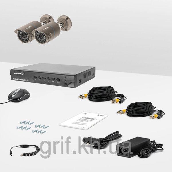 Комплект проводного видеонаблюдения Страж AHD Базовый