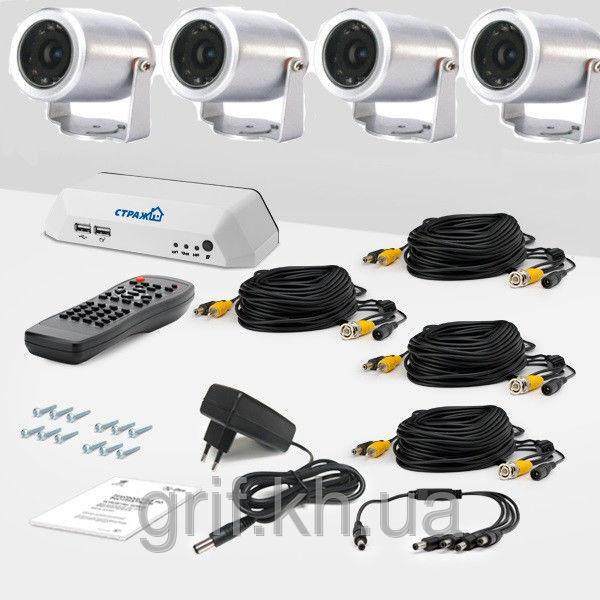 Комплект видеонаблюдения на 4 камеры «установи сам» Se 4П (УЛ-420К-4)