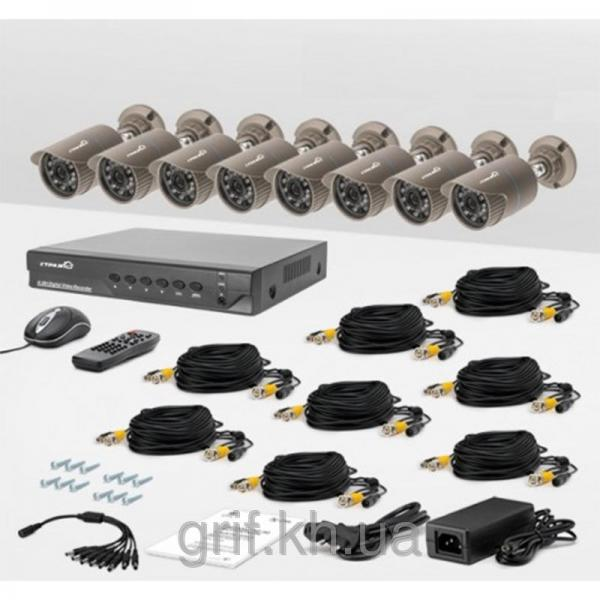 Комплект проводного видеонаблюдения Страж AHD Максимум