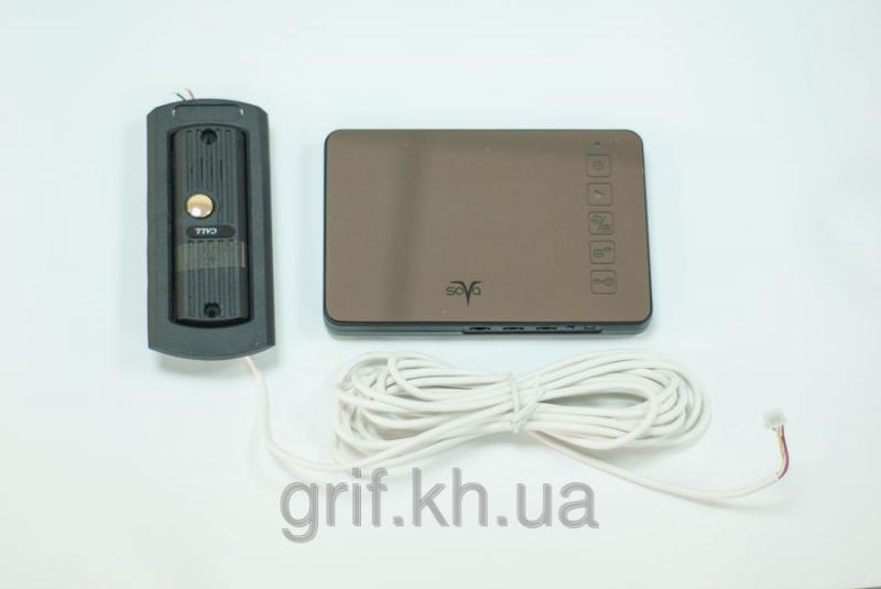 Видеодомофон цветной без трубки с памятью SOVA М400R комплект