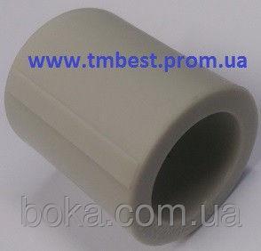 Муфта полипропиленовая соединительная ппр диаметр 63х63 для соединения труб в системах отопления.