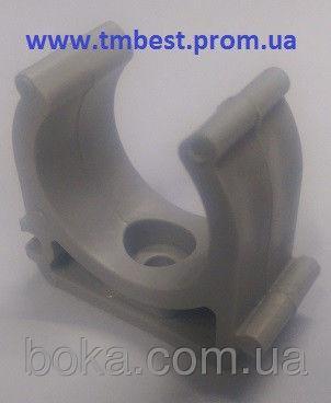 Крепеж полипропиленовый(ППР) для труб диаметр 40(одинарный) для крепежа труб в системах водопровода.