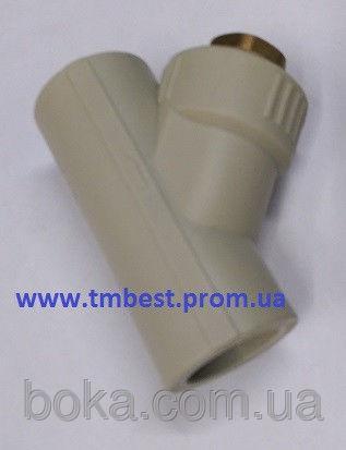 Фильтр полипропиленовый грубой очистки для ппр труб д.25 для систем водоснабжения и отопления.