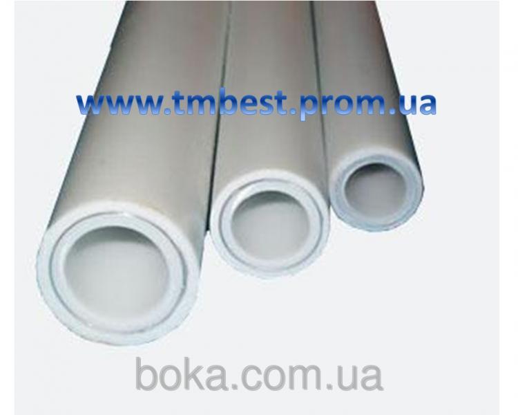 Труба полипропиленовая диаметр 63 мм армированная алюминием PPR-AL-PPR Stabi для систем отопления.