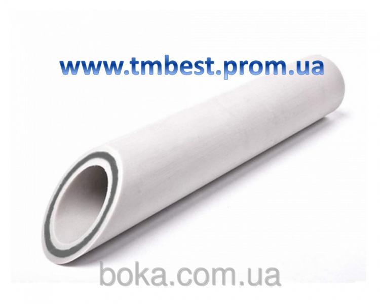 Труба полипропиленовая диаметр 32 мм армированная стекловолокном PPR-GF Fiber для отопления.