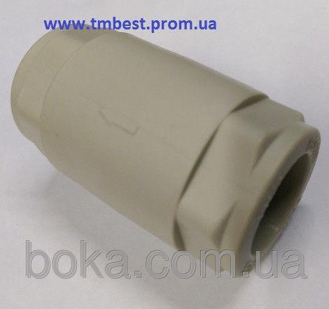 Клапан полипропиленовый обратный диаметр25 ппр(ppr) для остановки обратного движения воды в система.