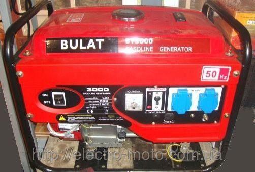 Бензиновый генератор BULAT BT 3000
