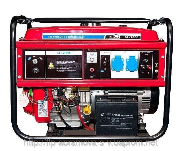 Бензиновый генератор Днепр БГ-7800