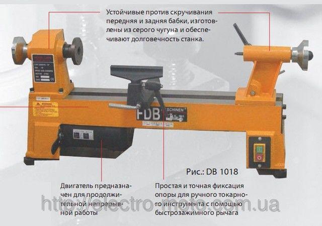Токарный станок для деревообработки FDB DB 1018.