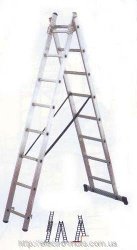 Лестница универсальная из 3 частей 3x10 (10 ступеней)