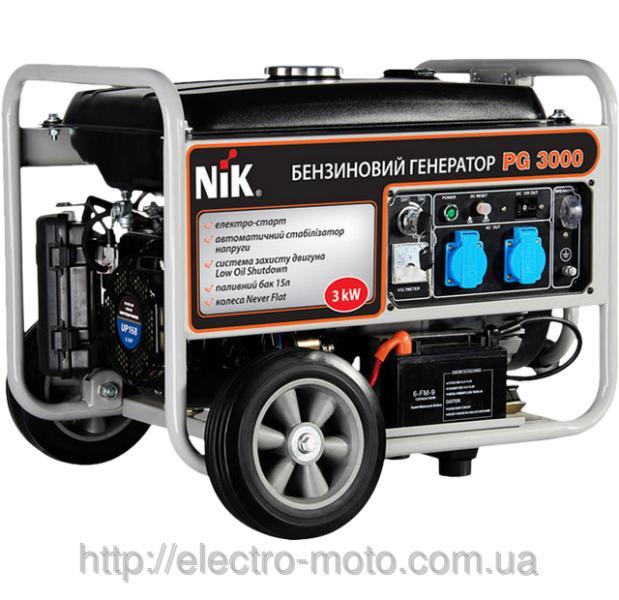 Бензиновый генератор NIK PG3000