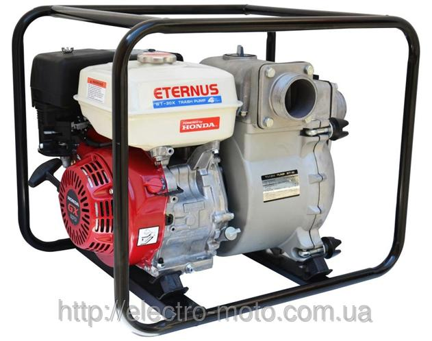 Мотопомпа бензиновая грязевая Eternus WT-30X