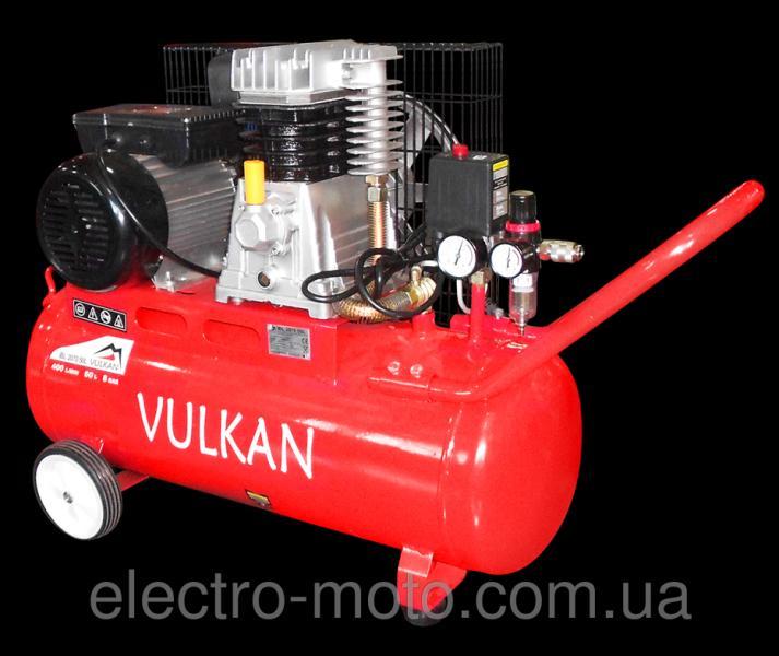 Компрессор двухпоршневой ременной Vulkan IBL2070 50L