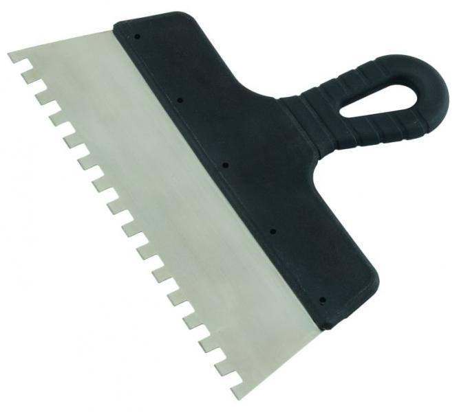 шпатель нержавеющий зубчатый 300 мм 8х8 Grad