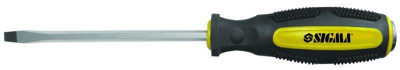 отвертка ударная шлицевая SL8x200мм CrV