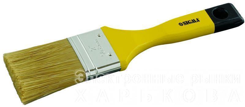 """кисть флейцевая микс 2,5""""  - Малярно-штукатурный инструмент на рынке Барабашова"""