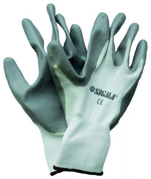 """перчатки трикотажные с частичным """"нитриловым"""" покрытием (манжет нейлон)"""