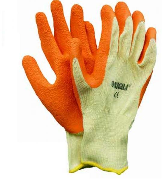 перчатки трикотажные 10G латекс кринкел на ладоне (кач)