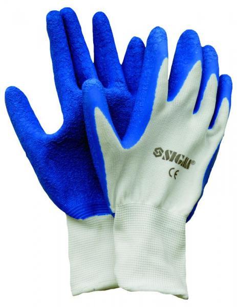 """перчатки трикотажные с частичным """"латексным"""" покрытием (манжет х\б)"""