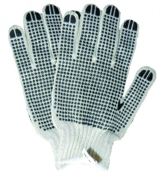 """перчатки трикотажные с точечным """"ПВХ"""" покрытием (манжет двухсторонние)"""