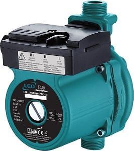 """насос для повыш давл 123Вт Hmax 9м Qmax 25л/мин ??"""" 160мм + гайки ??"""" Leo 3,0"""