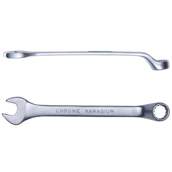 ключ рожково-накидной глубокий  9мм CrV satine