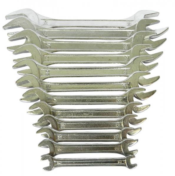ключи рожковые 12шт 6-32мм standard