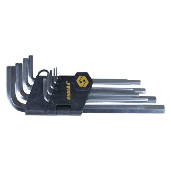 ключи шестигранные 9шт 1,5-10мм CrV (короткие)