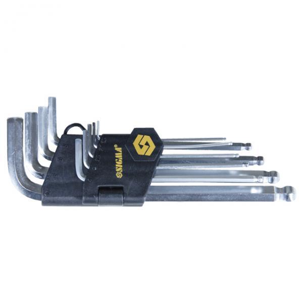 ключи шестигранные 9шт 1,5-10мм CrV (средние шар)
