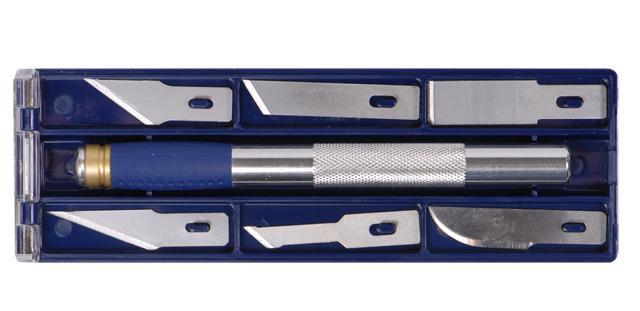 набор ножей моделярских 6шт + держатель