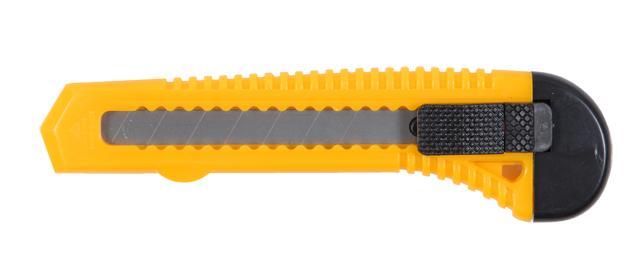 нож пластиковый корпус лезвие 18мм автоматический замок