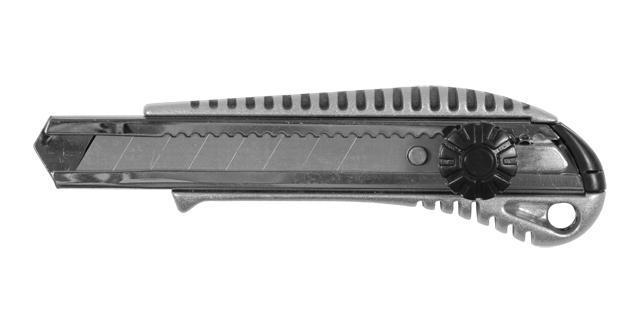 нож металлический корпус лезвие 18мм винтовой замок