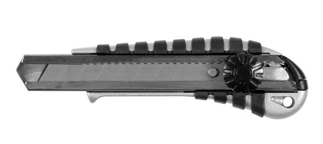 нож метал/резина корпус лезвие 18мм винтовой замок