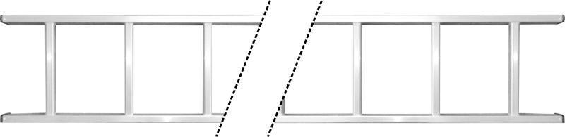 лестница приставная алюминиевая 20 ступенек