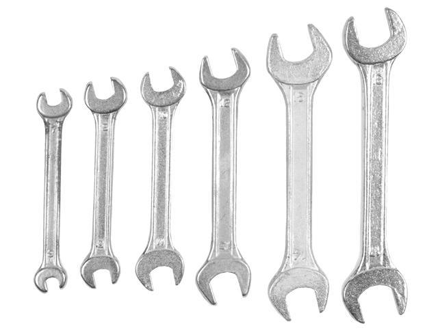 ключи рожковые 6шт 6-17мм standard