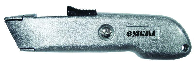 нож металлический корпус лезвие трапеция автовозврат лезвия