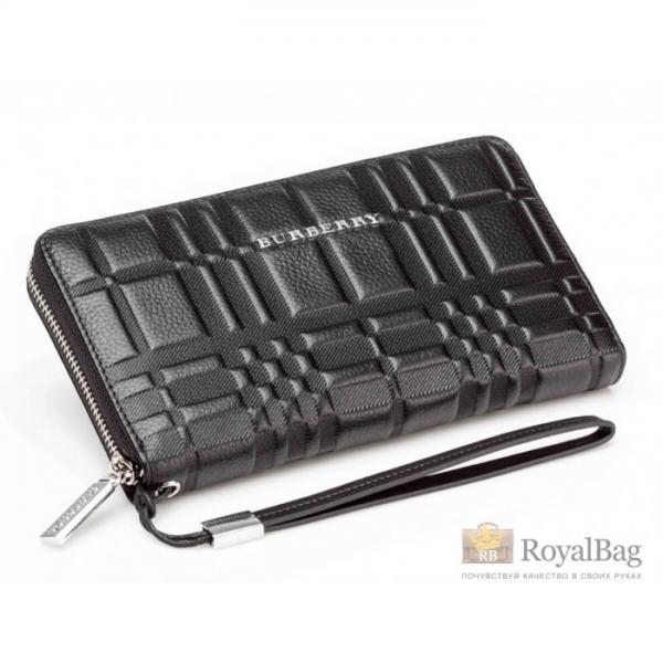 Кожаный клатч Burberry Wallet4-2674