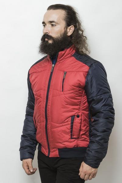 Куртка на синтепоне 2216 (Красный/темно-синий)