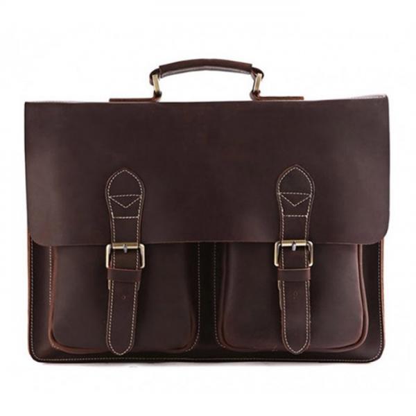 Мужской кожаный портфель TIDING BAG 7105R-1