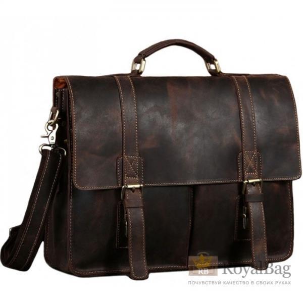 Мужской кожаный портфель TIDING BAG T1115