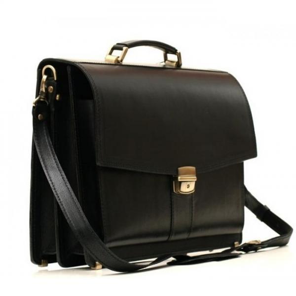Мужской кожаный портфель PAV-20BLACK