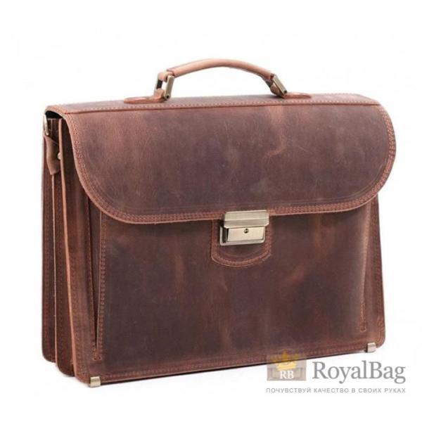 Мужской кожаный портфель PVM-2